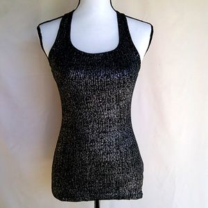 ❤️ Forever 21 Glitter Print Ribbed Tank Top 2/$15